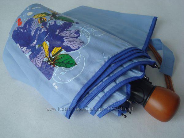 AIRTON полуавтомат однотонный зонт с рисунком на одном клине. Цена 350 грн