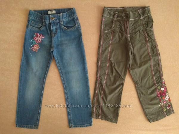 Джинсы, брюки для девочки OshKosh и Тополино на рост 3-4 года