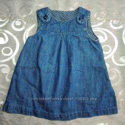 платья для девочек от 6 мес джинсовый сарафан