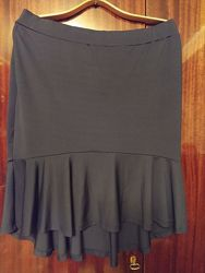 юбка с удлиннением сзади