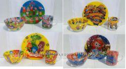 Детский набор посуды стекло