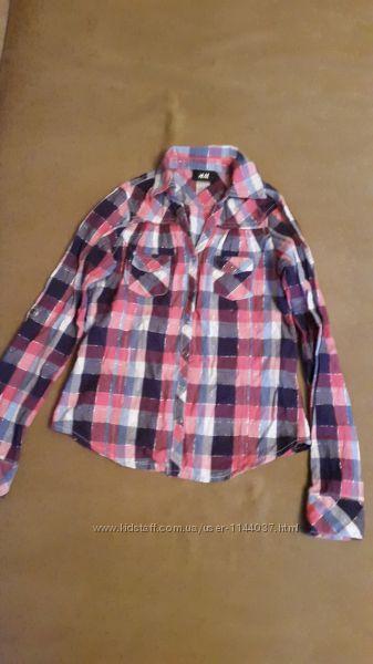 Стильная рубашка H&M 9-10 лет