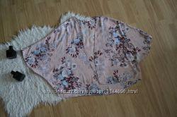 Нежная накидка кимоно next с цветочным принтом