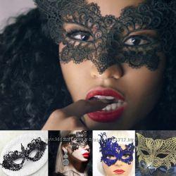 Венецианские ажурные, кружевные маски в ассортименте