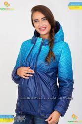 Куртка вагітним на дві сторони зі вставкою для животика