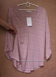 Пудровая кофта блуза Busem, очень приятный вискозный трикотаж