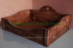 Кровать лежанка деревянная, лежак для кота собаки