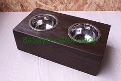 Подставка под миски деревянная для собаки кота. Handmade для животных
