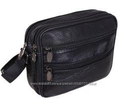 Кожаная мужская сумка через плечо барсетка 15х19х7см 42dd46941092b