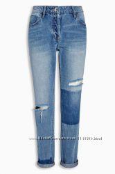Стильные джинсы бойфренды NEXT, р. UK6, XS-S, дешевле цены сайта