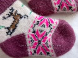 Натуральные шерстяные носки, на стопу 12-14см