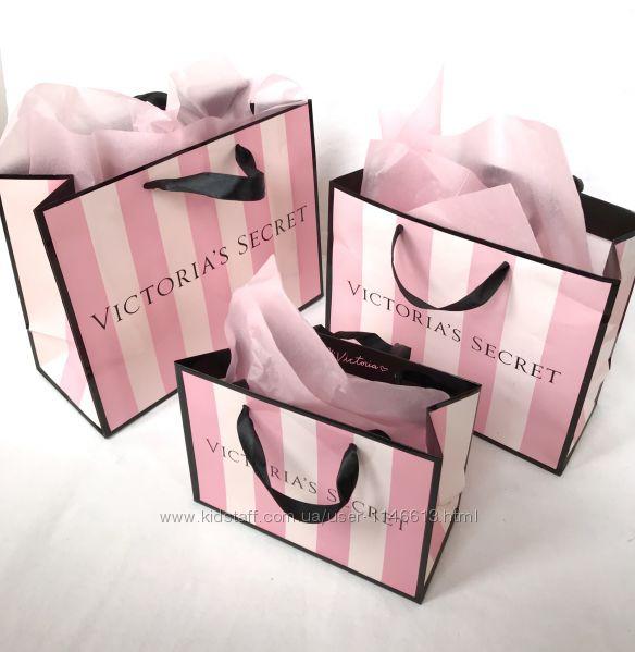 Бумажные пакеты с логотипом Victoria&acutes Secret
