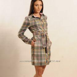 Новое платье-рубашка на прохладное лето или осень 46 размер