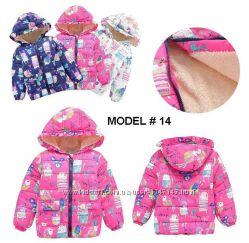 Куртка утепленная детская демисезонная, Зверята, весна осень