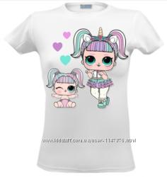 Футболка ЛОЛ реглан одежда с куколками LOL Surprise принт футболки