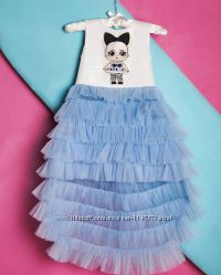 Платье  с девочкой ЛОЛ платье LOL Surprise нежное нарядное красивое