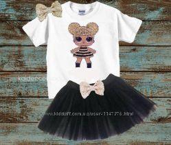 Костюмы  ЛОЛ LOL юбка и футболка комплект для модницы LOL Surprise