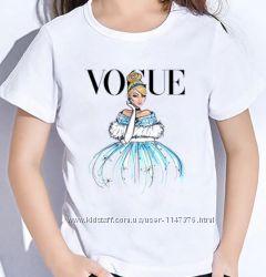 Футболочки VOGUE футболка вог для девочки футболка принт принцессы Дисней