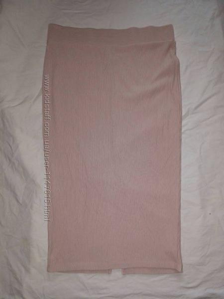 Стрейчевая юбка, р-р 16, евро 44, на наш 50-52, пудрового оттенка от Asos, на вы