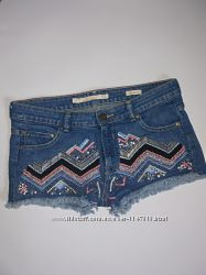 Классные короткие джинсовые шорты, р-р евро 36, S-M , Zara