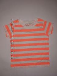 Хлопковая футболка на девочку 6-7 лет, 122 см, сток