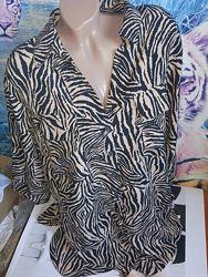 Стильная удлиненная рубашка, туника, р-р 22, евро 50 от F&F