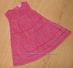 Платье, сарафан Cherokee, 0-3 мес, 62 см, микровельвет, Италия