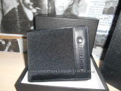 код 54-009 Мужской кошелек, портмоне, бумажник Mont Blanc, кожа, Италия
