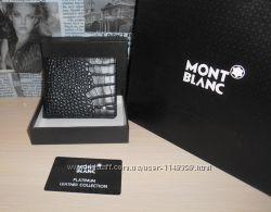 код 78-009 Мужской кошелек, портмоне, бумажник Mont Blanc, кожа, Италия