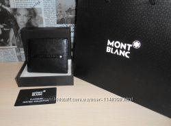 код 25-009 Мужской кошелек, портмоне, бумажник Mont Blanc, кожа, Италия