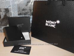 код 32-002 Мужской кошелек, портмоне, бумажник Mont Blanc, кожа, Италия