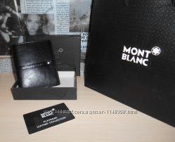код 25-002 Мужской кошелек, портмоне, бумажник Mont Blanc, кожа, Италия