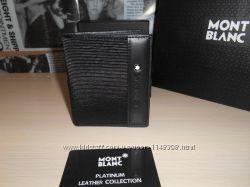 код 54-002 Мужской кошелек, портмоне, бумажник Mont Blanc, кожа, Италия