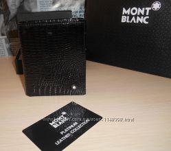 код 23-002 Мужской кошелек, портмоне, бумажник Mont Blanc, кожа, Италия