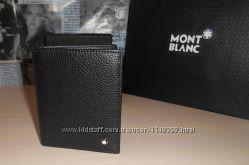 код 55-002 Мужской кошелек, портмоне, бумажник Mont Blanc, кожа, Италия