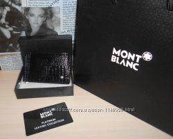 код 23-6384 Зажим, мужской кошелек, бумажник Mont Blanc, кожа, Италия