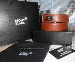 Ремень пояс Mont Blanc мужской, кожа, Италия код 003