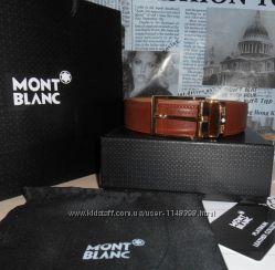 Ремень пояс Mont Blanc мужской, кожа, Италия код 011
