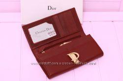 Кошелёк женский Красный Бренд Диор Dior Натуральная кожа 04470aaf6c9