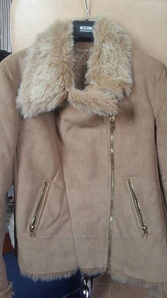 Меховая замшевая куртка