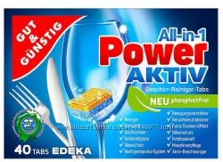 Таблетки ПММ Edeka Power-Aktiv Повер 40 от ящика6шт