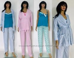 Комплект для кормящих мам халат и пижамка