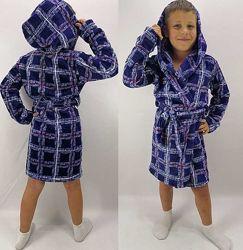 Детские махровые халаты 98-140