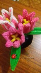 Креативные идеи декоративные тюльпаны из синельной проволки