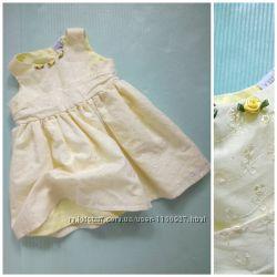 9-12мес. 80см Платье под поясок с вышивкой ришелье Babble Boom
