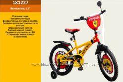 Велосипед 2-х колес 12  со звонком, зеркалом, без ручного тормоза