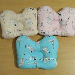 Ортопедическая подушка-бабочка для новорожденных