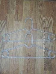 Плечики вешалки для взрослой одежды длина 42 см прозрачные