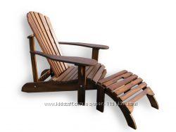 Кресло Адирондак с подножкой