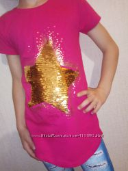 Туника кофта с пайетками, меняют цвет 8-11 лет паетками